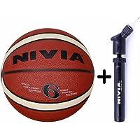 Nivia Engraver BasketBall (Size 6) + Nivia Double Action Ball Pump