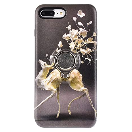 Funda iPhone 8 Plus, Carcasa iPhone 7 Plus con Anillo ...
