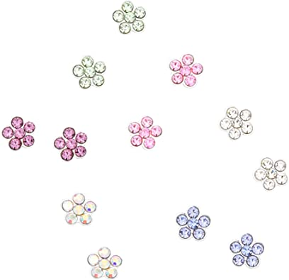 Claire/'s Girl/'s Silver Cubic Zirconia 2MM Round Magnetic Stud Earrings