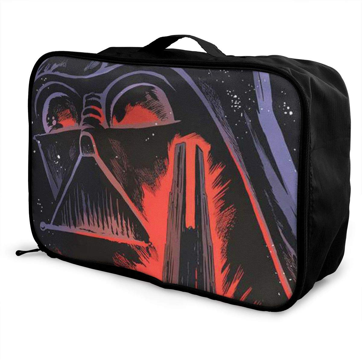 BOKAIKAI1306 Fierce D-Darth Vader Unisex Adult Fashion Lightweight Large Capacity Portable Large Travel Duffel Bag Mens Womens Luggage Bag 3D Printed DIY Boarding Box