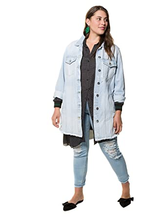 sale retailer classcic 100% quality quarantee Studio Untold Women's Plus Size Extra Long Denim Jacket ...