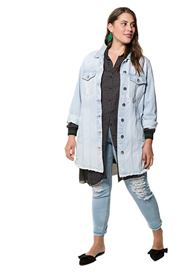 Studio Untold Women s Plus Size Extra Long Denim Jacket 718324  Studio  Untold  Amazon.co.uk  Clothing 3931220442