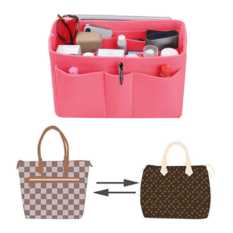 Felt 8 Colors Purse Organizer Insert LV Speedy Purse Handbag Tote Bag 3MM Fabric Bag Organizer for LV Neverfull 3 Sizes