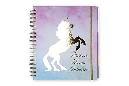 Tri-Coastal Design – Agenda de 12 meses 2019 A LA VENTA con planificador semanal – Tapa rígida resistente – Elegante funda decorada (unicorn)