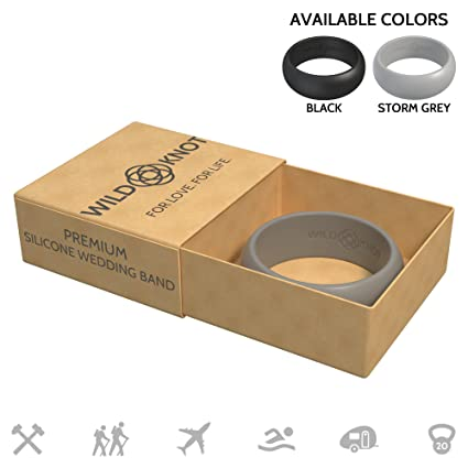 Amazon Com Silicone Wedding Rings For Men High Performance