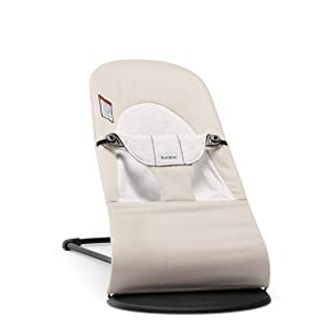 BABYBJORN Bouncer Balance Soft - Beige/Gray, Jersey Cotton