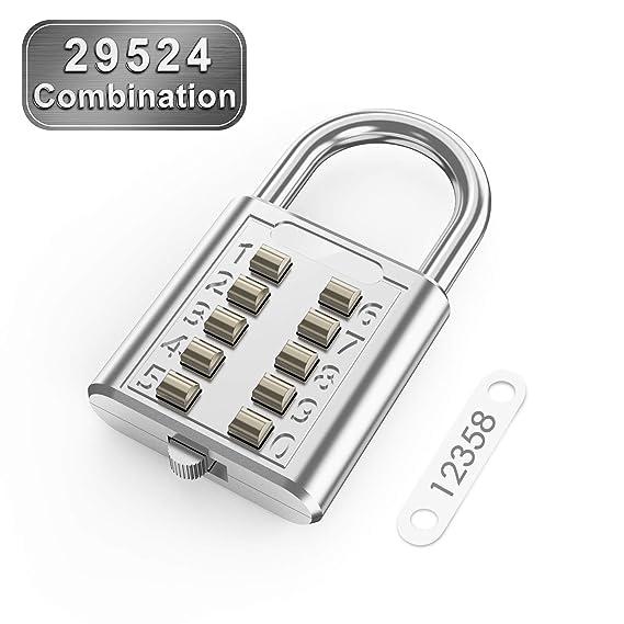 Hardware Intelligent Combination Number Hardware 5 Digit Push Button Home Improvement Luggage Travel Padlock Hasps Locks Code Lock High Safety