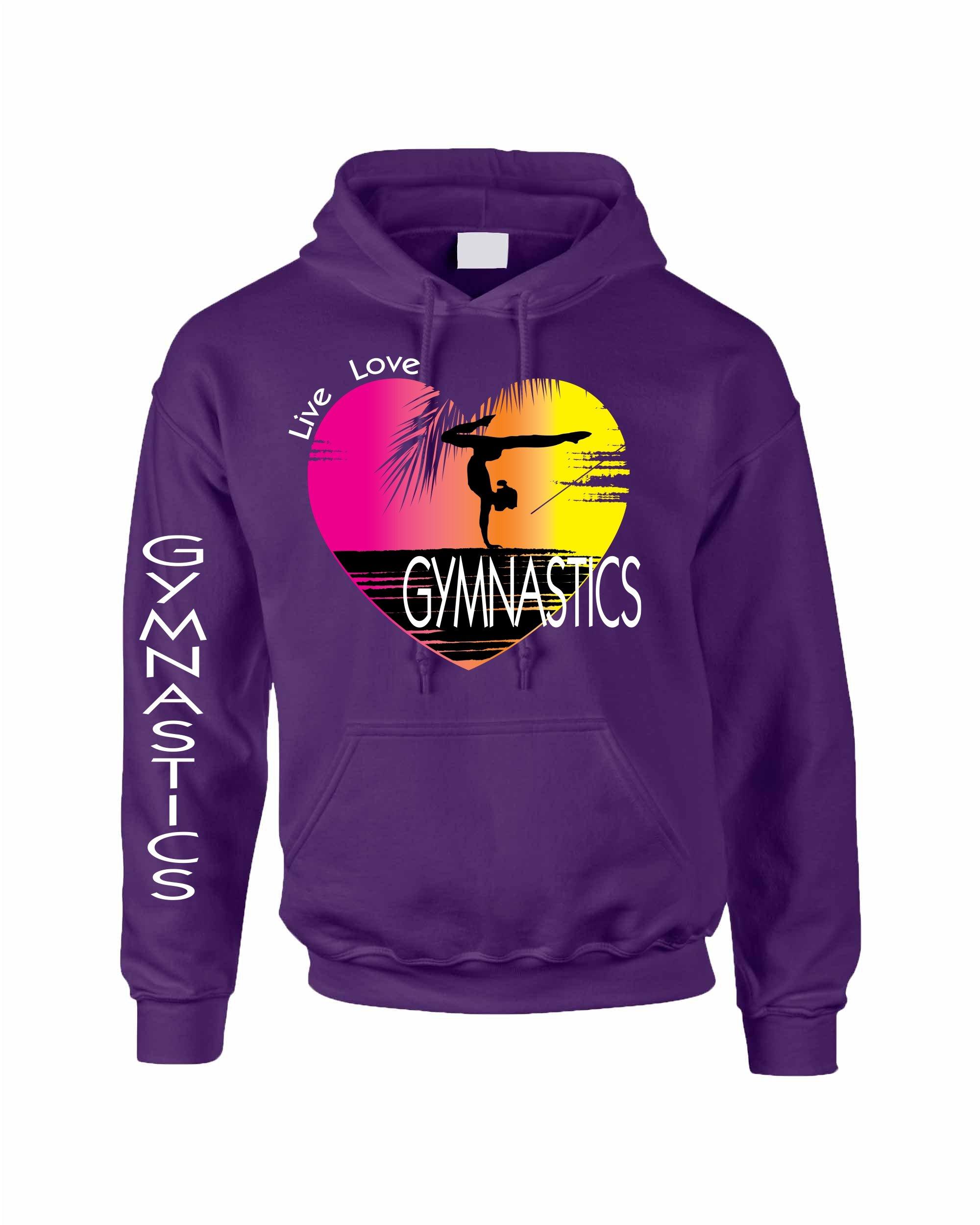 Allntrends Adult Hoodie Sweatshirt Gymnastics Art Pink Print Love Live (M, Purple Rush)