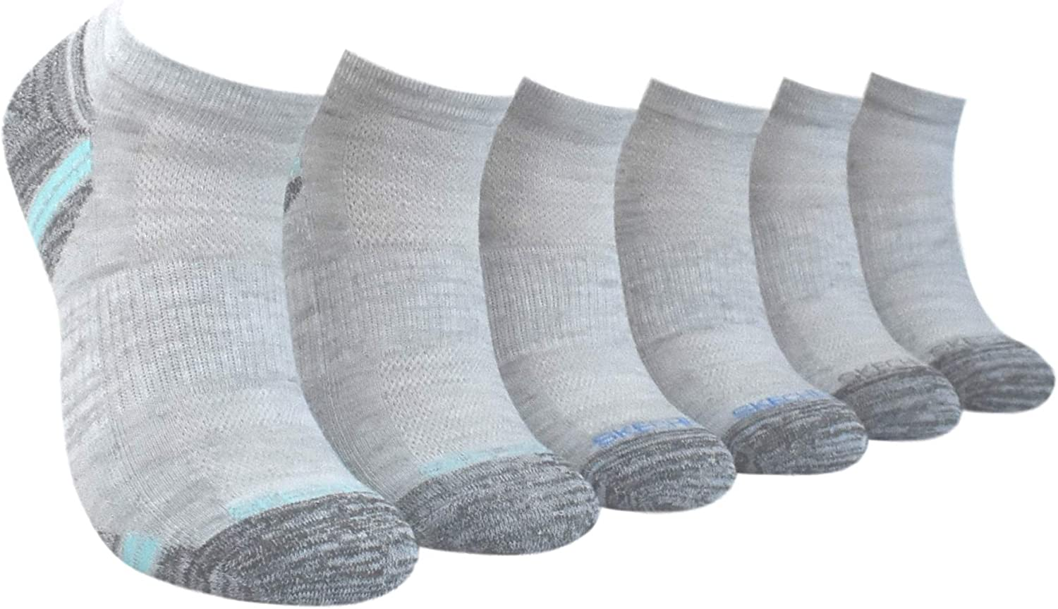 Skechers Active Womens 6 Pack Cushioned Low Cut Socks Sock Size 9-11 S108228