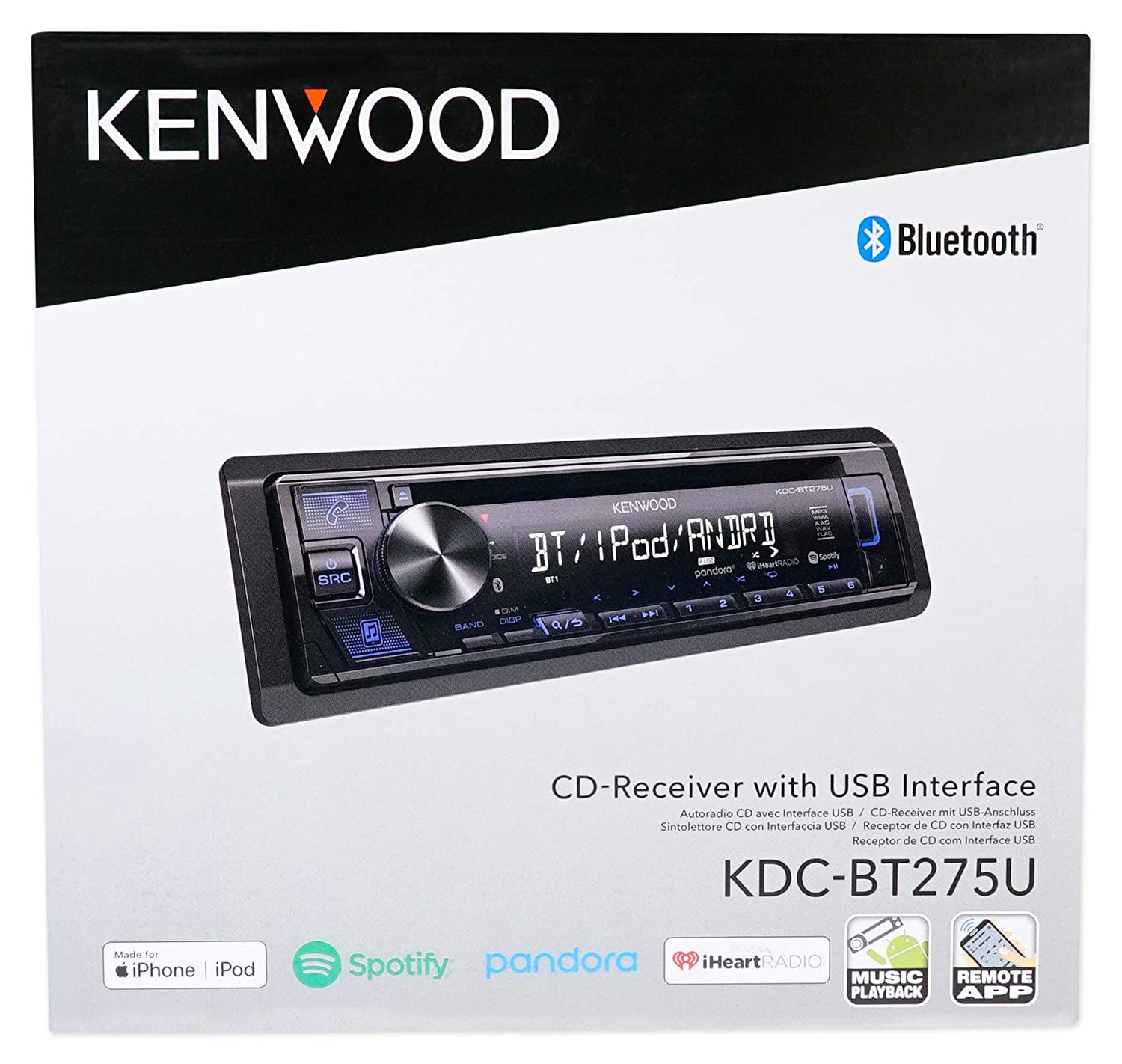 Amazon.com: Kenwood CD Receiver w/Bluetooth iPhone/Android/For 95-97 Oldsmobile Bravada: Musical Instruments