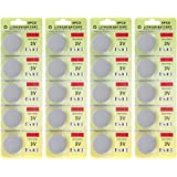 Fortune CR2032 3V Lithium Battery,Electronic Coin Cell Button Battery for Toys,Calculators,Watches,Light Candles (20pcs)