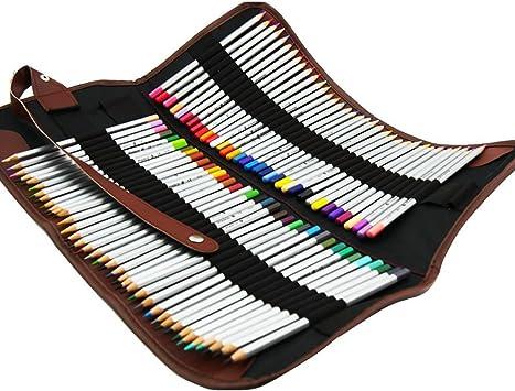 Zedtom - Estuche portalápices de tela con 36 orificios para lápices (lápices no incluidos) 72 Fori: Amazon.es: Bricolaje y herramientas