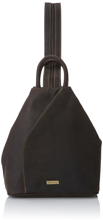 Visconti Oil Distressed Leather Backpack Bag Handbag Rucksack, Brown, One Size Visconti Luggage 18064