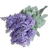 Un bouquet di 10Head artificiale Lavanda fiori di seta viola bouquet casa decorazione da giardino Light Purple