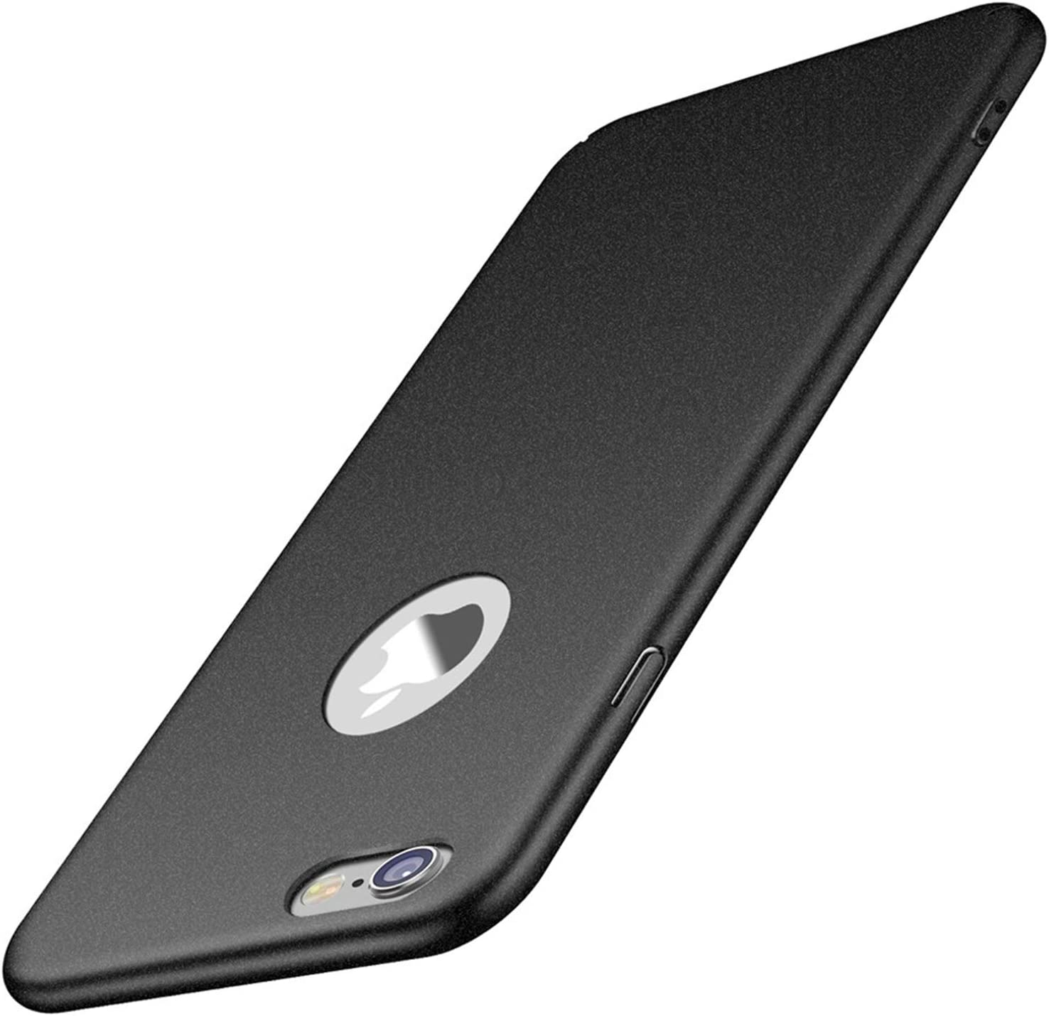 for iPhone 6s Plus/ 6 Plus case, ACMBO Minimalist [Sand Touch Feel] Ultra Thin Slim Fit Cover with Non Slip Matte Surface Hard Cases Cover for for iPhone 6 plus/6s Plus 5.5 inch, Gravel Black