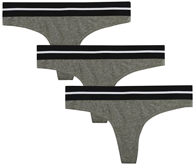 479eec713d Balanced Tech Women s Active Cotton Thongs Panty 3 Pack - Heather Grey -  Small