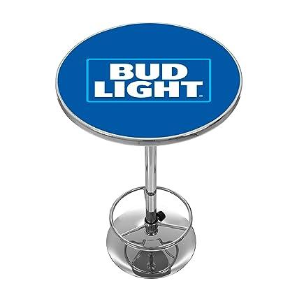 Amazon bud light chrome pub table sports outdoors bud light chrome pub table watchthetrailerfo