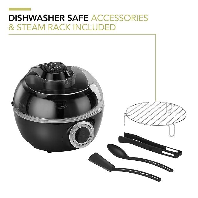 VonShef robot cocinero - digital de bajo contenido graso Aire freidora con 6 opciones de cocción 6 Litro de Negro - 2 años de garantía gratis: Amazon.es: ...