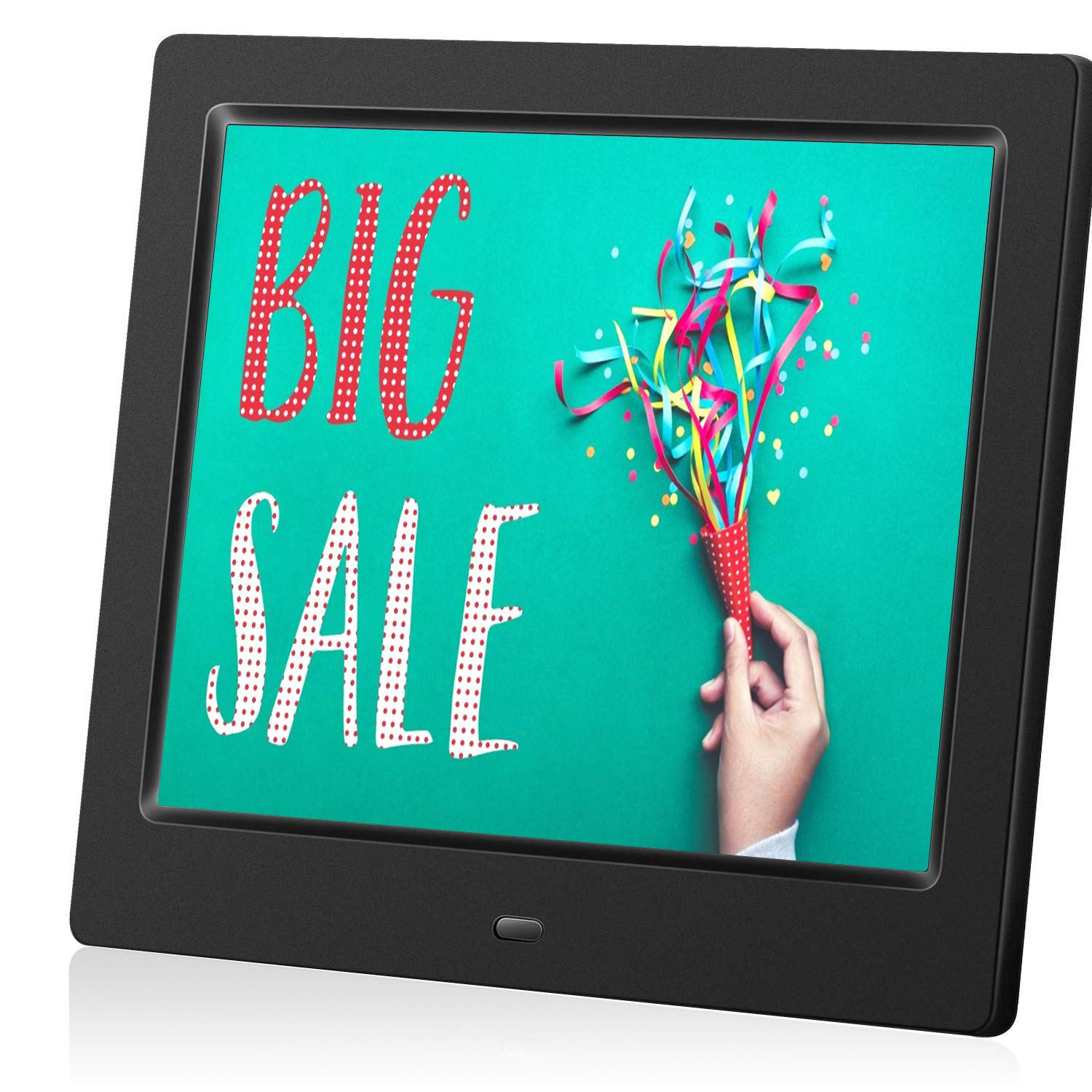 MRQ 8 Inch Digital Photo Frame, Picture Frame with HD IPS Screen 180° Degree Wide Viewing Angle with Remote Control, Support Video/Photo/Music Playing, with USB SD Slot by MRQ