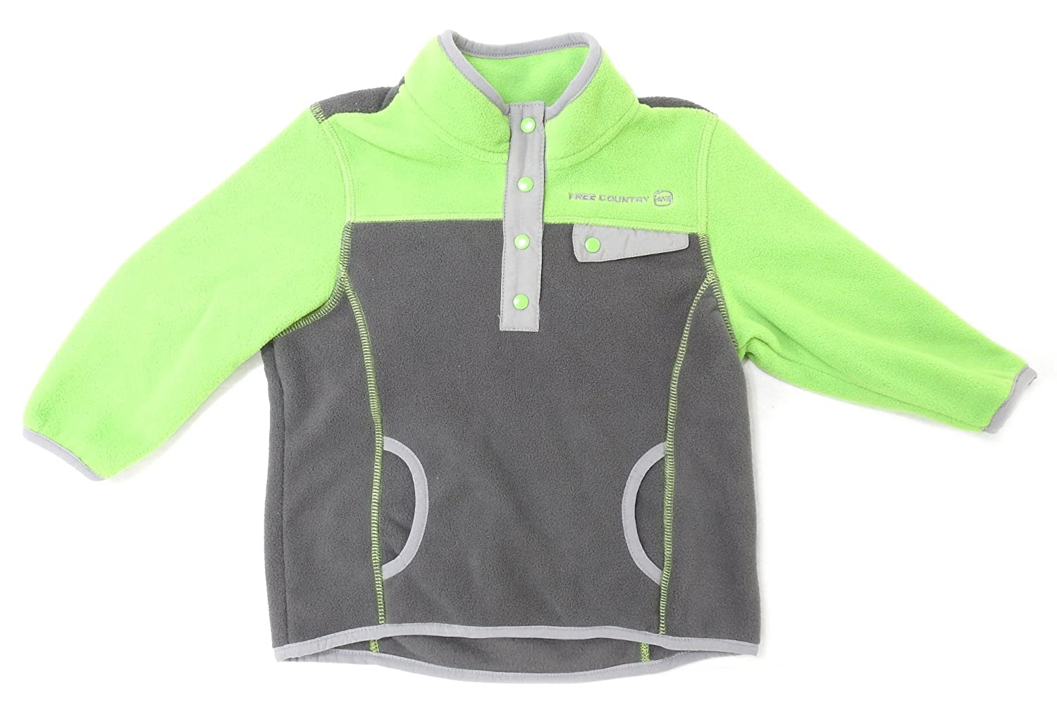 FC Free Country Boys Size 2T Microtech Fleece Pullover Lead Pencil