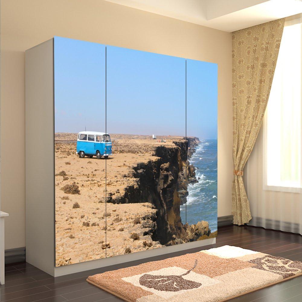 Yazi personalizada tamaño pegatinas ventana armario impermeable puerta Decor papel orilla del mar: Amazon.es: Hogar