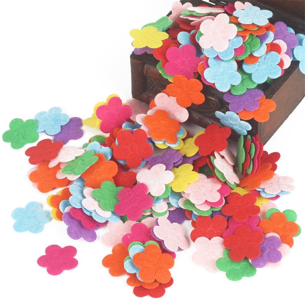 Bird Assorted Color 100pcs Felt Patch Applique Felt Scrap-booking Non-woven Stickers Sew on Applique Felt Pads for DIY Craft Making Sewing Handcraft Decoration