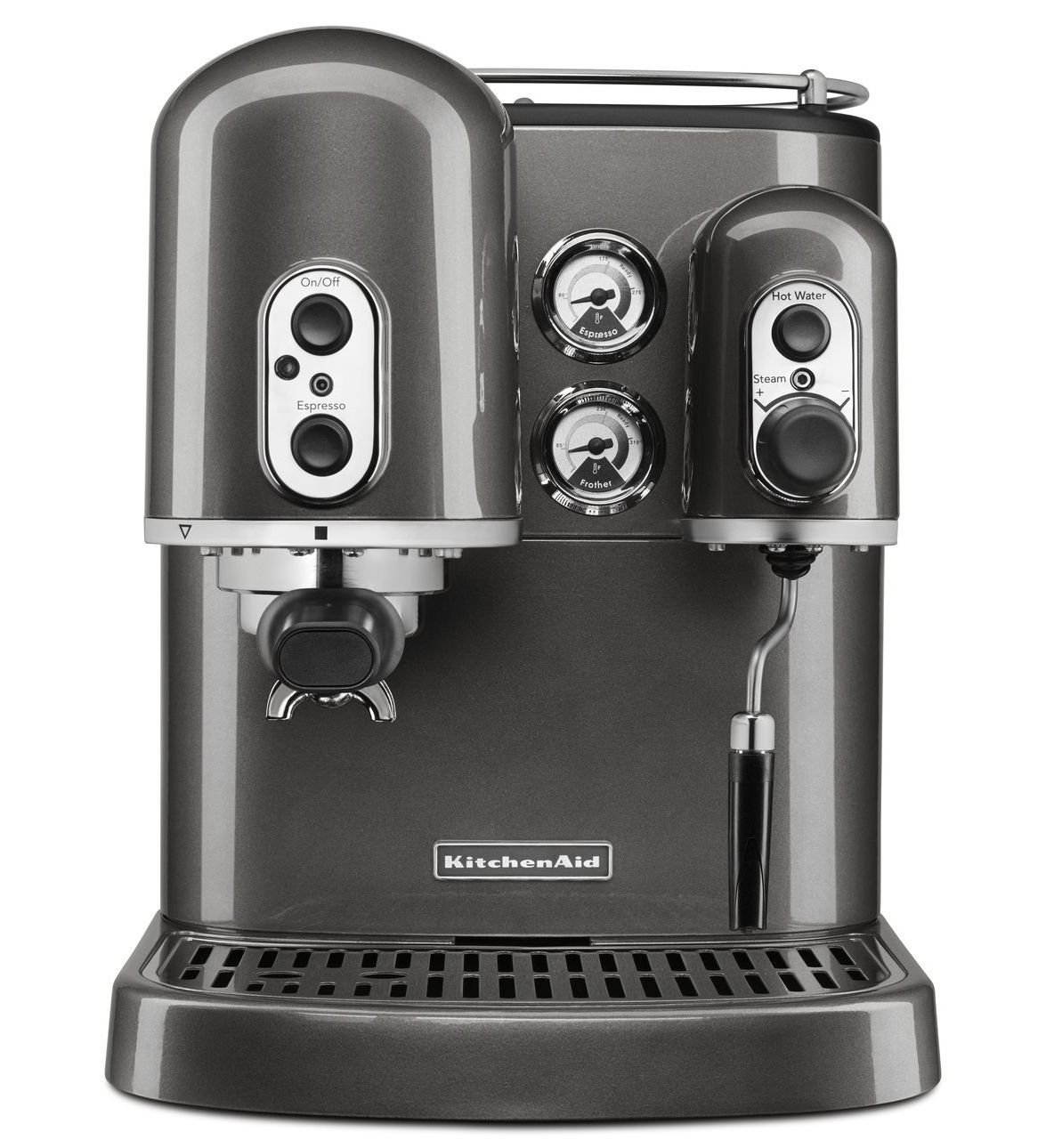 KitchenAid Pro Line Series Espresso Maker with Dual Independent Boilers, Medallion Silver (Certified Refurbished)