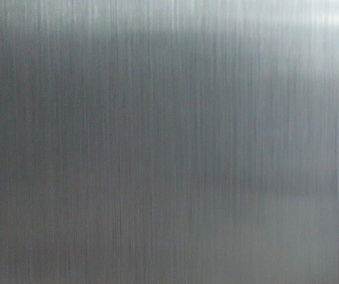 Peel y Stick cepillado acero inoxidable l/áminas de vinilo autoadhesivo Papel de contacto estante maletero para cubrir Backsplash horno lavavajillas despensa aparatos 60x 200 cm