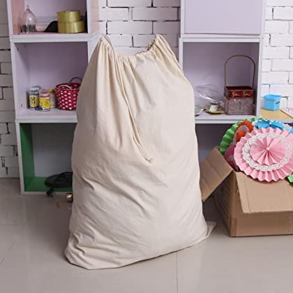 Ohuhu Natural Cotton Laundry Bag Extra Large