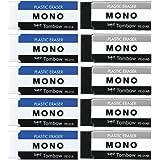 TOMBOW 铅笔 橡皮擦 MONO PE01 モノPE01 2色セット 各5個