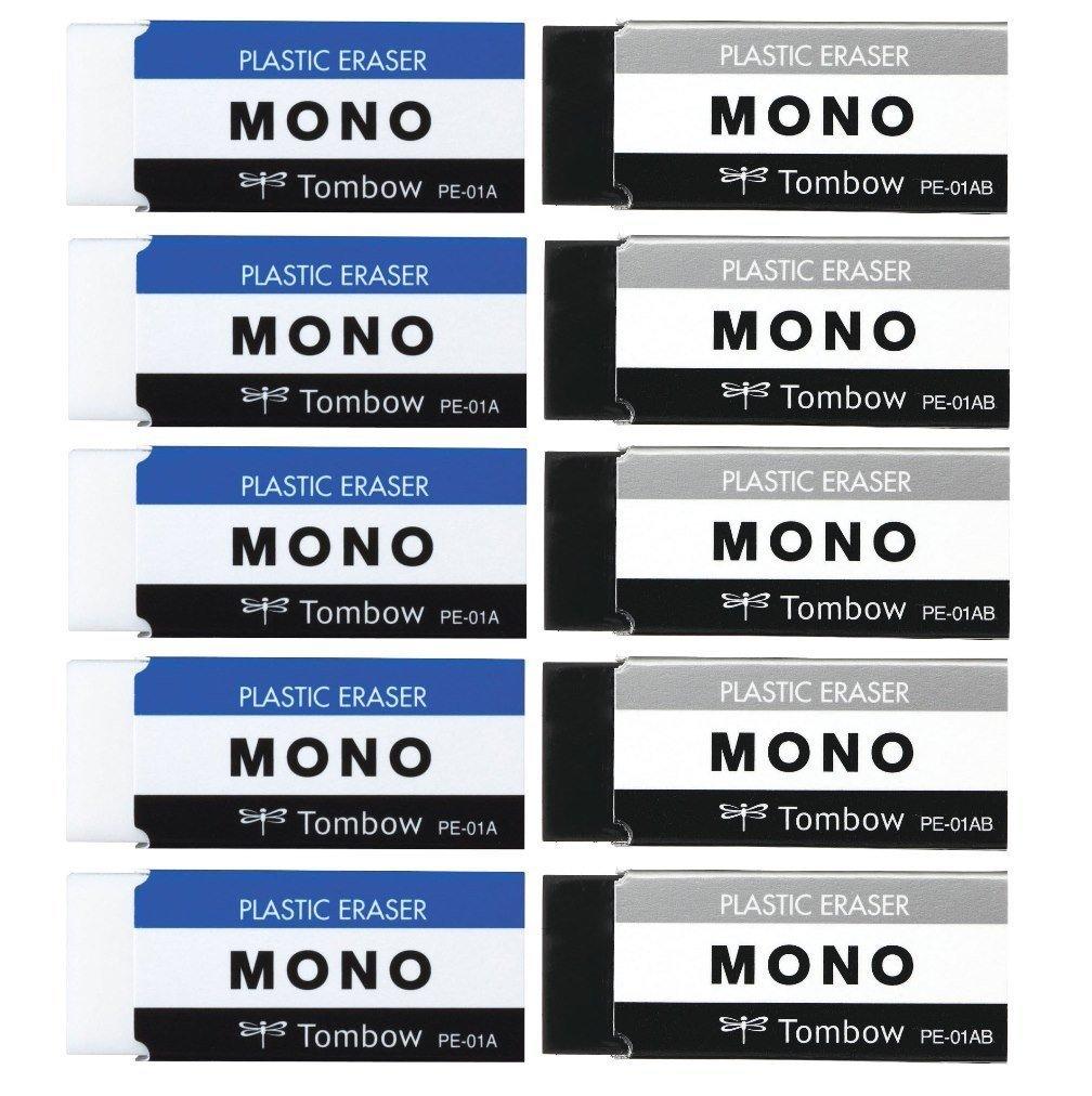 トンボ鉛筆 消しゴム MONO モノPE01 2色 各5個