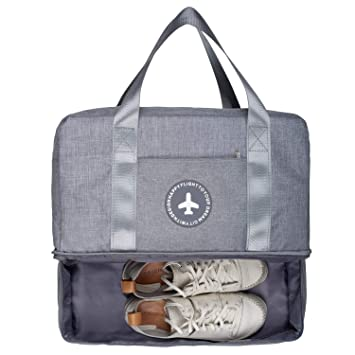 bff8b64b1622 RoLekim Gym Totes Bag with Shoe Compartment Dry Wet Depart Beach Swim  Waterproof Tote Bag for Men Women