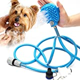 Pet Bathing Tool, Pet Shower Sprayer & Scrubber in-One, Shower Bath Tub & Outdoor Garden Hose Compatible, Dog Cat Horse…
