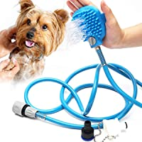 Pet Bathing Tool, Pet Shower Sprayer & Scrubber in-One, Shower Bath Tub & Outdoor Garden Hose Compatible, Dog Cat Horse Grooming
