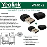 Yealink WF40 2-Pack USB Dongle Wi-Fi plug and play 150 Mbps