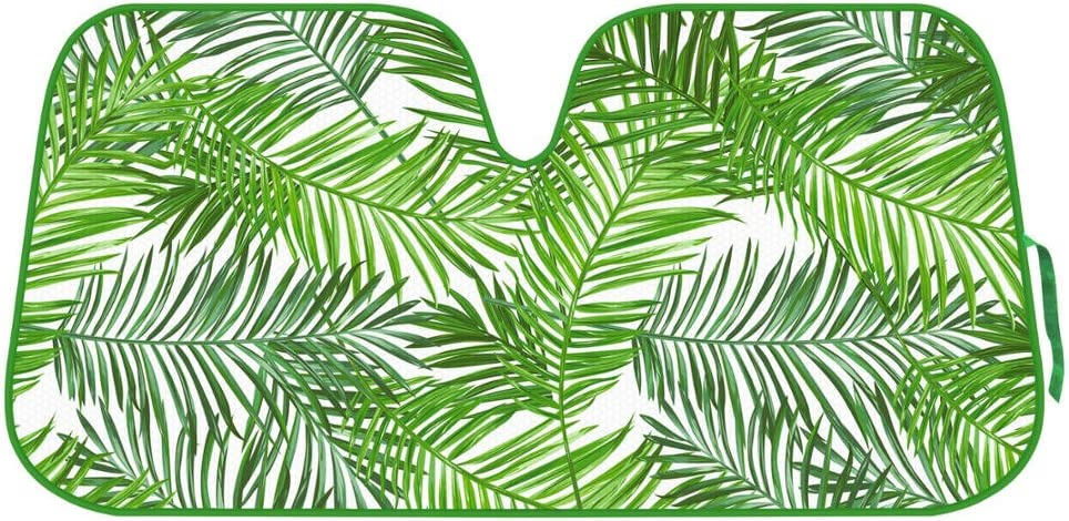 Tropical Leaves Auto Windshield Sun Shade