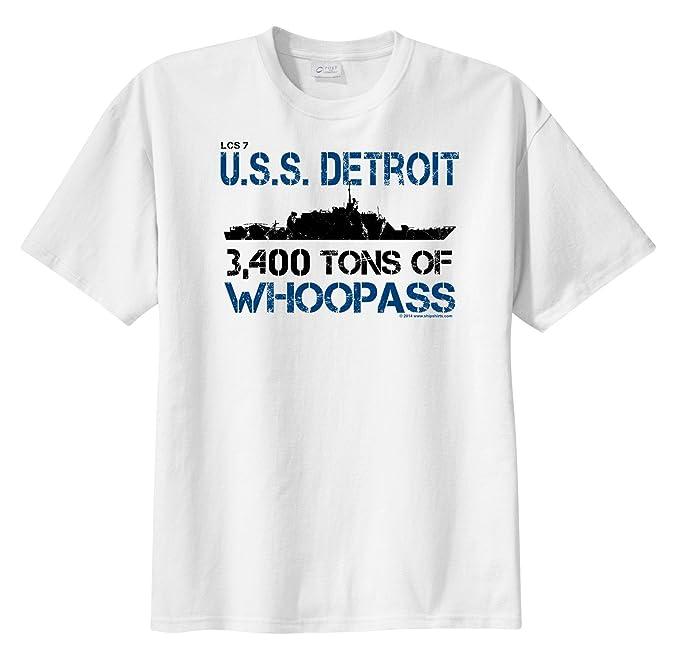 Amazon com: ShipShirts™ Men's LCS 7 USS Detroit 34,00 tons
