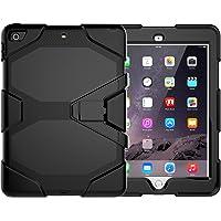 "Case New iPad 9.7"" 2017, [Kickstand] Shockproof Heavy Duty Rugged Hybrid Kickstand Protective Case iPad Apple New iPad 9.7-inch 2017 & 2018"