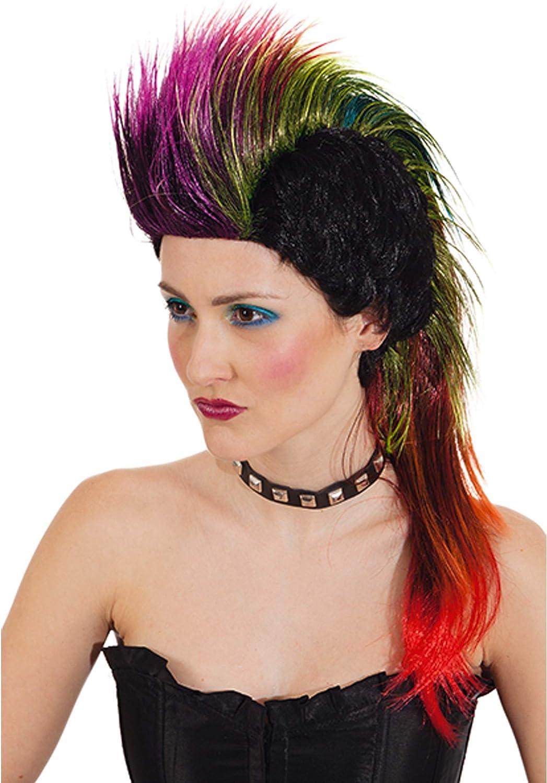 ORLOB Peluca Punky Disfraz Punker Carnaval Hahnemuhle Peine IRO ...