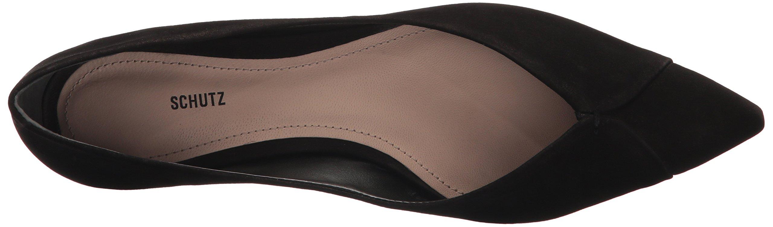 SCHUTZ Women's Sasha Ballet Flat, Black, 9.5 M US by SCHUTZ (Image #7)