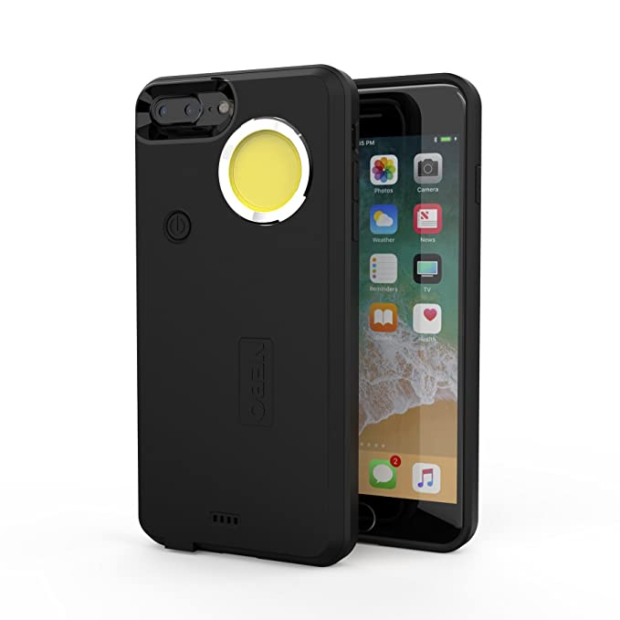 best cheap 947b5 08a2d NEBO 6648 CaseBrite Phone Case With Flashlight, Black (iPhone 7/8 Plus)