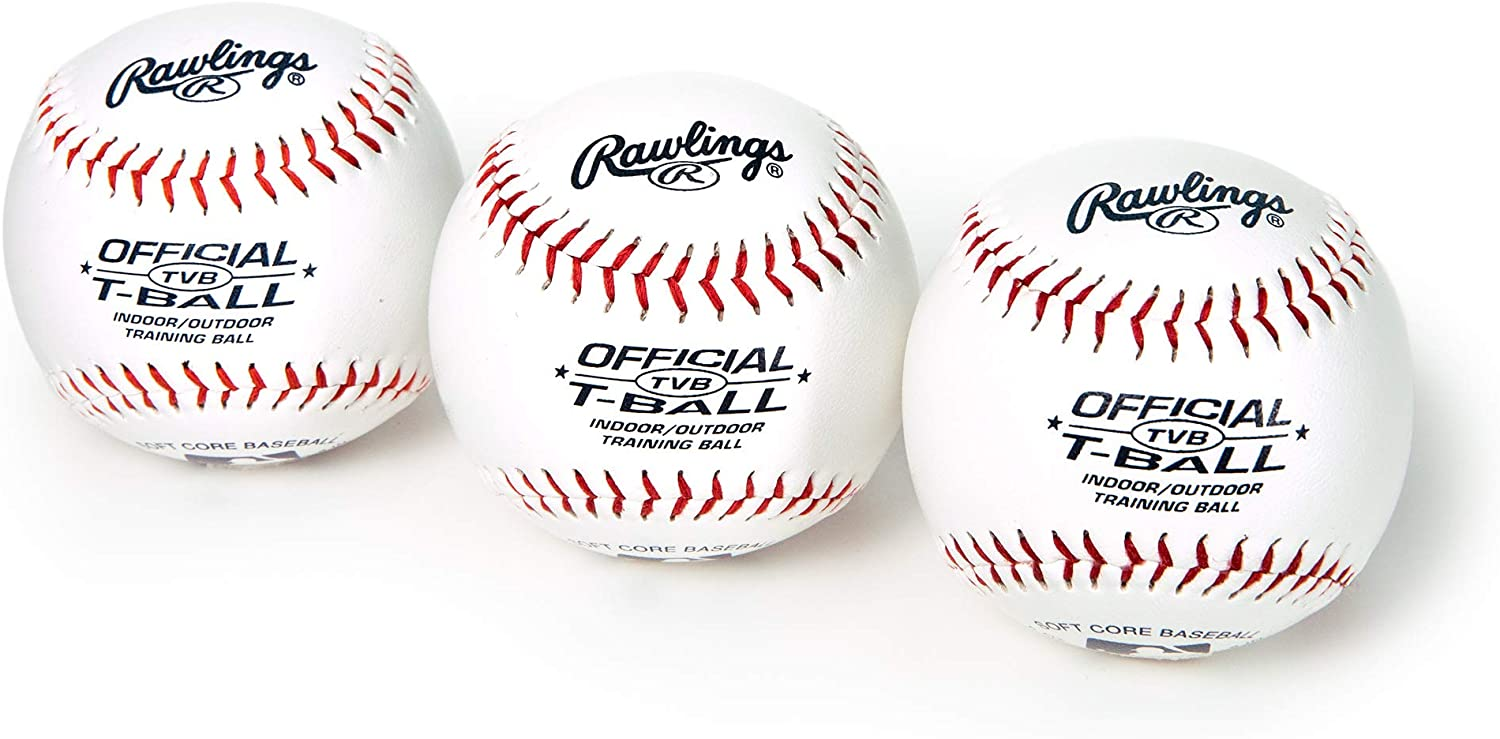 RAWLINGS OFFICIAL TVB T-BALL INDOOR//OUTDOOR TRAINING BALL SET OF 3