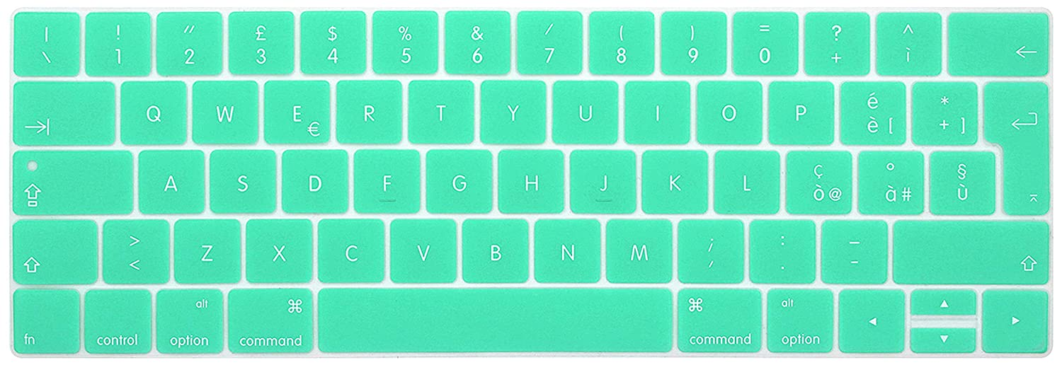 FR Version white XIHAMA Silicone Keyboard Cover Protector with Touch Bar,Ultra Thin Protective Skin for New 2016-2018 MacBook Pro 13 inch A1989//A1706 MacBook Pro 15 A1990//A1707