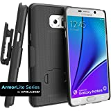Encased Galaxy Note 5 Combo Case w/ ClikLock Belt Clip Holster - Black (Samsung Galaxy Note 5)