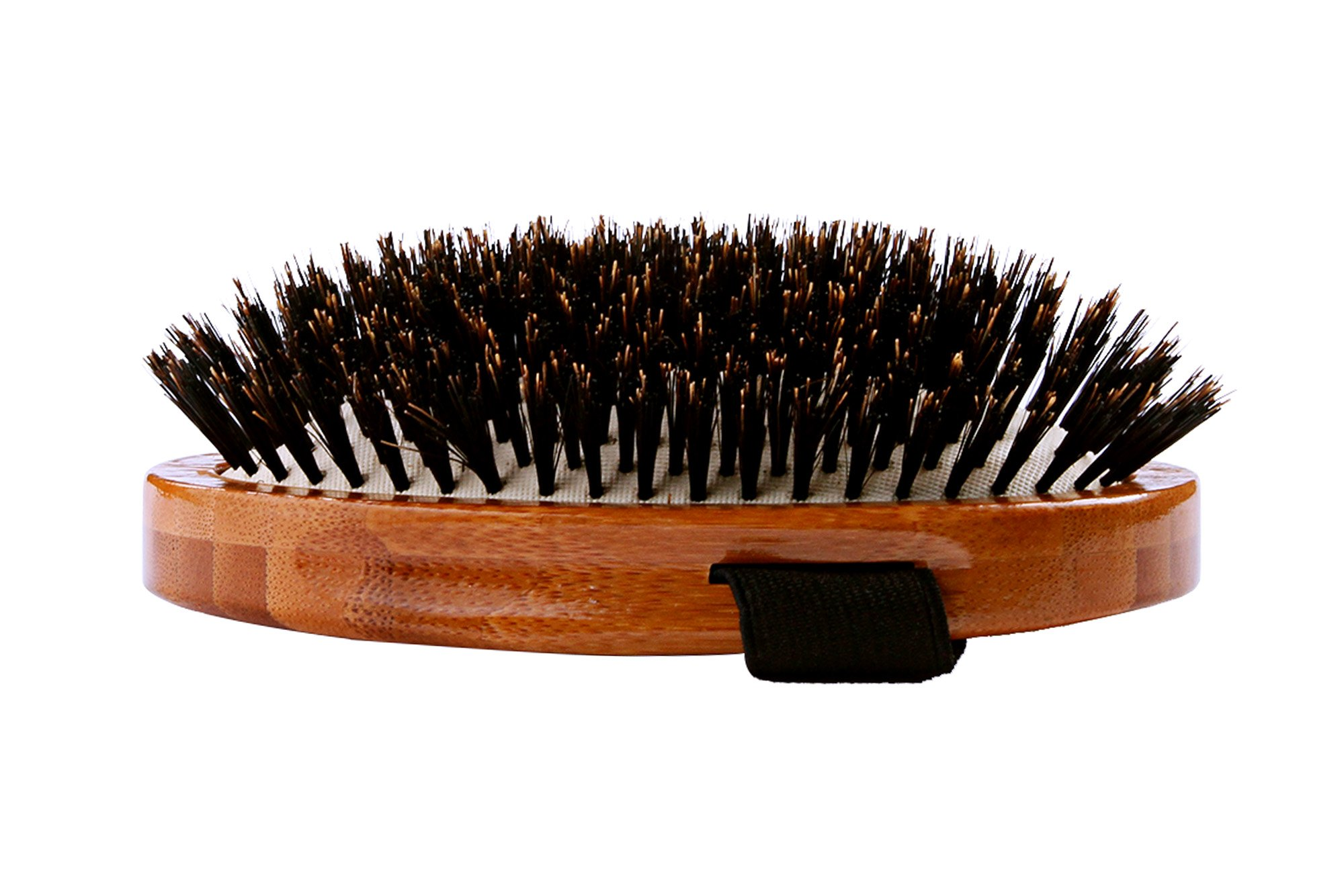 Bass Brushes   Luxury Grade Pet Brush   Shine & Condition   100% Pure Premium Natural Bristle - Firm   Large Palm Design   Natural Bamboo Handle   Solid Finish   Bass Brushes Model #A2-DB