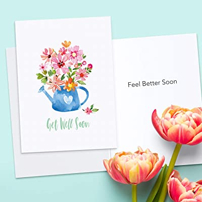 Get Well Soon Greeting Card w//Envelope NEW