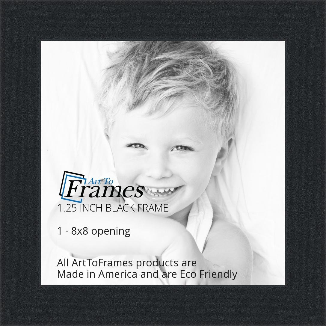 amazoncom arttoframes 8x8 inch black picture frame womfrbw72079 8x8 single frames
