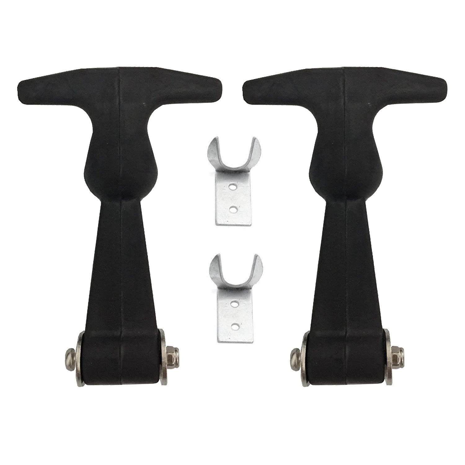 2 Pcs Rubber Flexible SUS304 Stainless Steel Soft Draw Latches Hasp