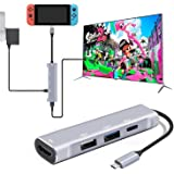 USB C ハブ Type-c ハブ 4K Type C-HDMI USB 3.0ハブ USB 2.0 ハブ Type-C マルチ変換アダプタ Nintendo Switch、Samsung Galaxy S8、Macbook proなど対応