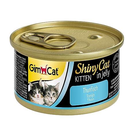 GimCat ShinyCat in Jelly Kitten – Comida para gatos: con trocitos extrapequeños en gelatina, indicada para gatitos jóvenes a partir de las 8 semanas – ...